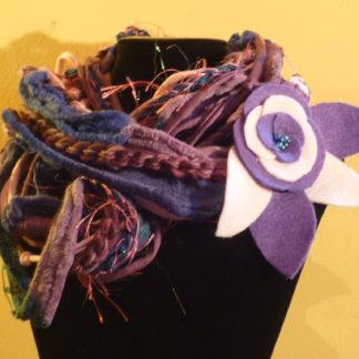 collana-sciarpa viola