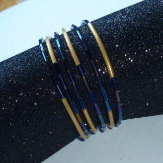 bracciale spaghetti blu