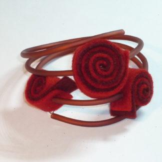 Bracciale spirali rosse