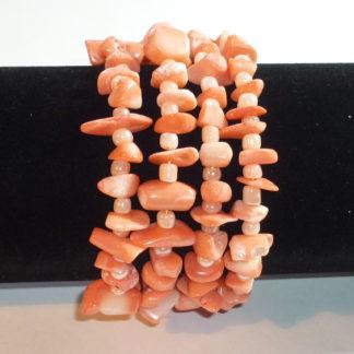 Bracciale corallo rosa