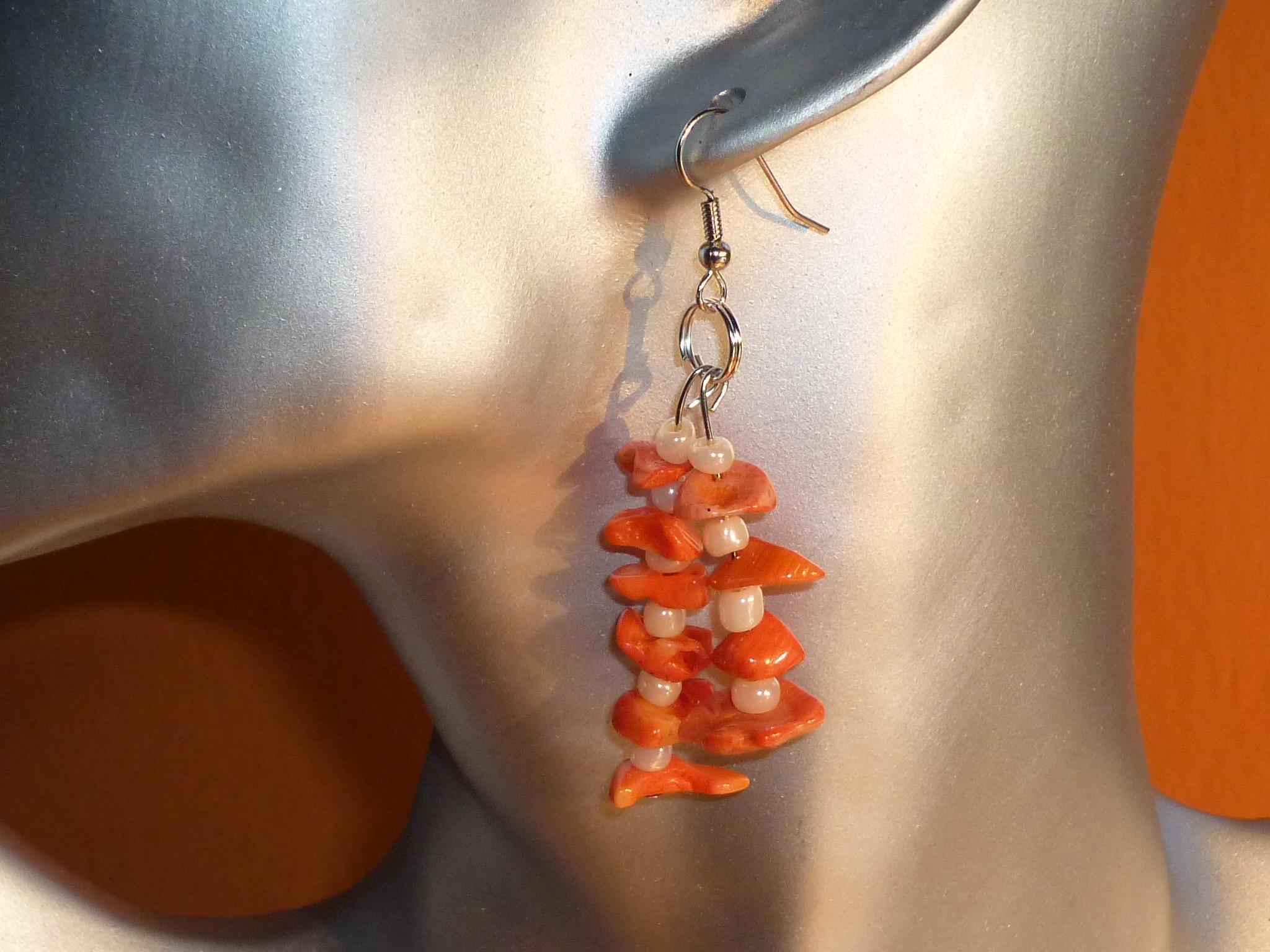 Orecchini corallo arancione