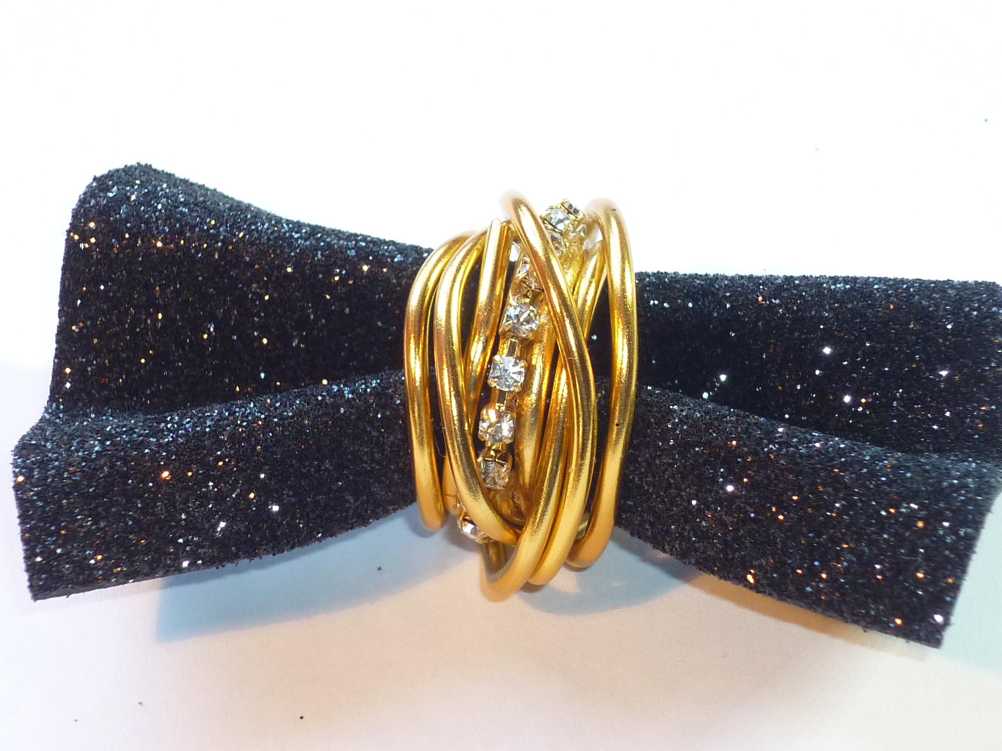 Anello oro strass