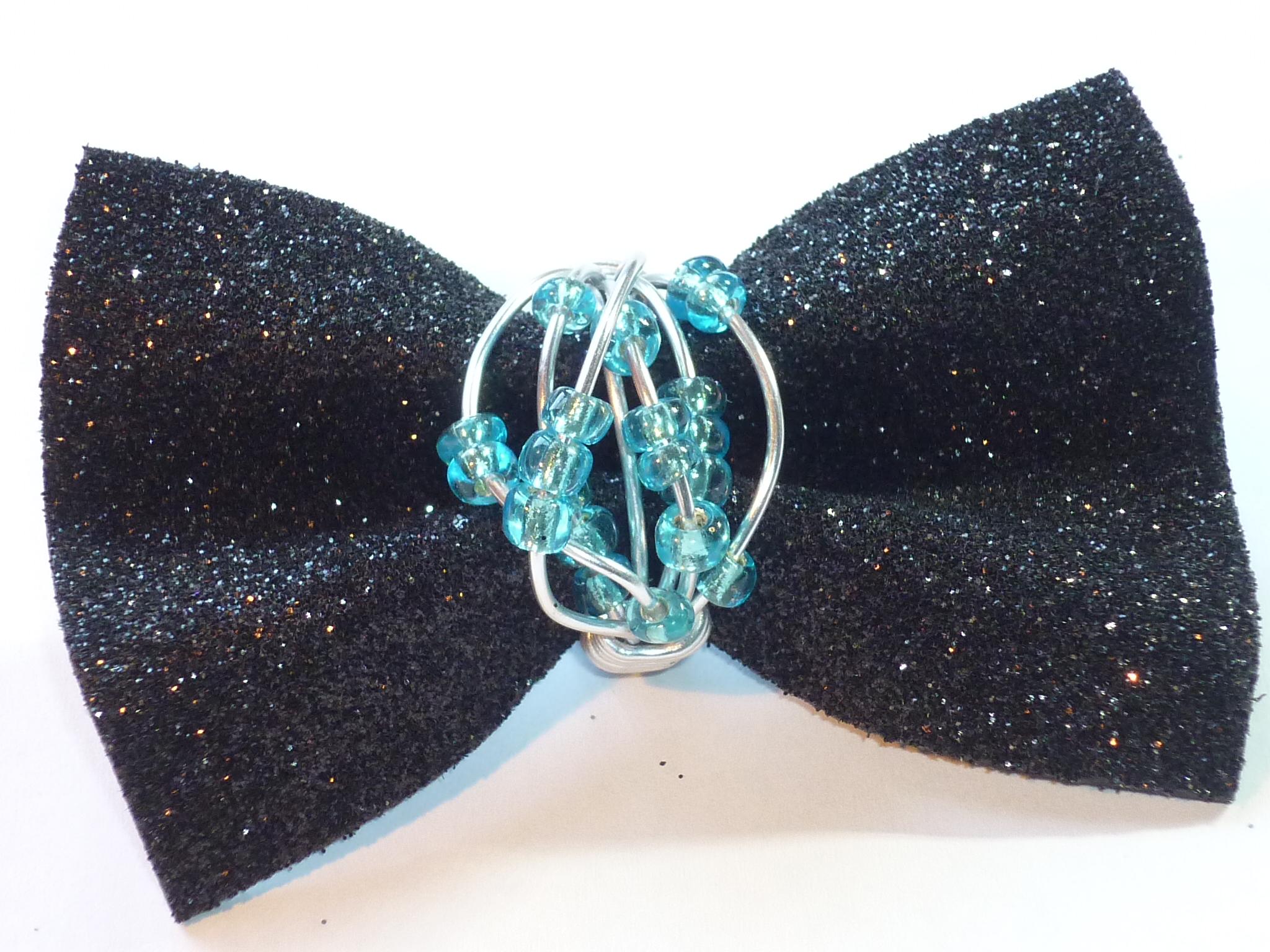Anello fili azzurri