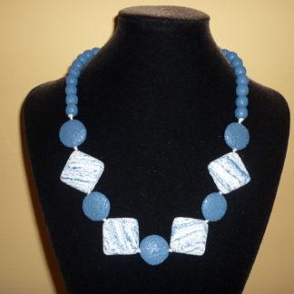 Collana lava blu
