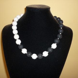 Collana lava black & white