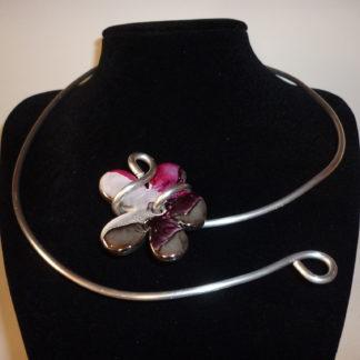 Collier fiore viola