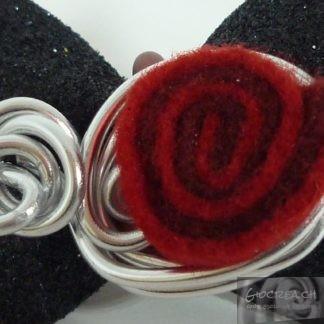 Anello rosa rossa