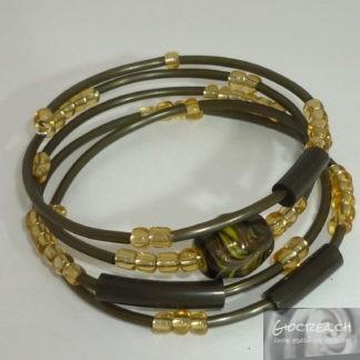Bracciale oro e verde