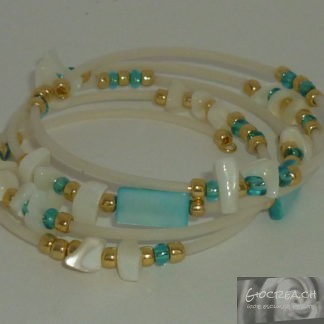 Bracciale madreperla turchese